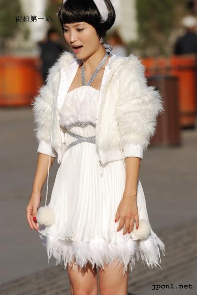 皮 裤 长 靴  外拍白色细高跟长靴、全白、天使套装-下-11P 街拍第一站全网原创独发!