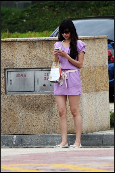 云游四方街拍  年底清库存6--浅紫色连衣裙!【11P】 街拍第一站全网原创独发!