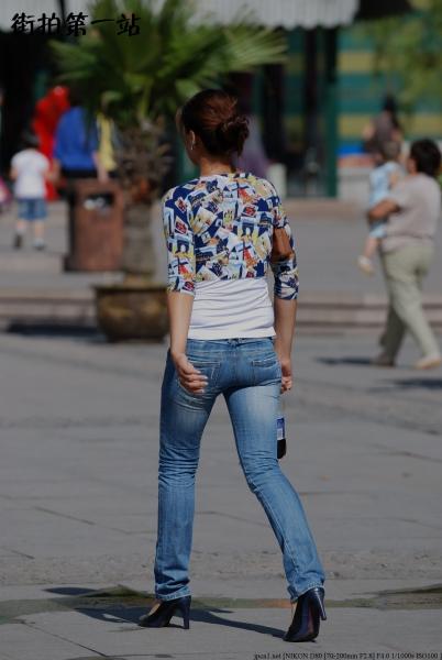 牛仔裤 美 女  2418-5p 街拍第一站全网原创独发!