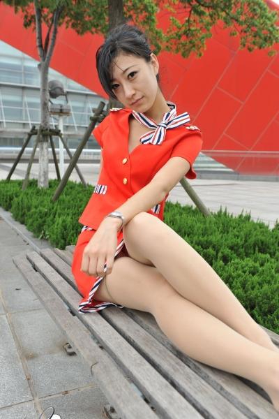 空 姐 风 采  [龙翔2012新作]风情万种撩人的红色肉色 丝 袜 空姐!(18P) 街拍第一站全网原创独发!