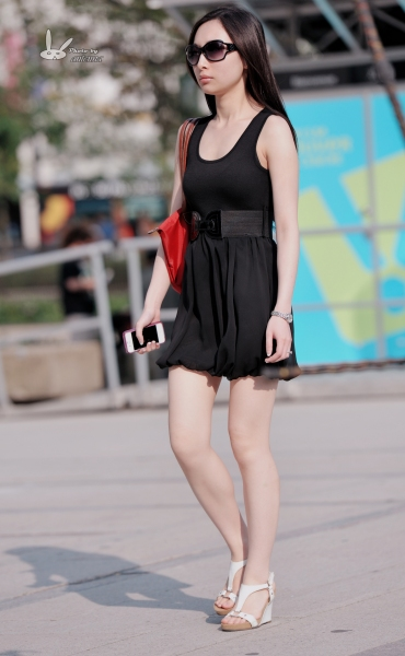 antenna街拍  【antenna】夏の 之玉腿坡高黑裙墨镜 少 妇  7p 街拍第一站全网原创独发!