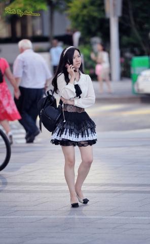 antenna街拍  【antenna】夏の 之钢琴键盘图案蓬蓬裙 15p 街拍第一站全网原创独发!