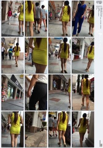 牛 仔 视频  1-107-黄色连衣裙 少 妇 -01.mp4 街拍第一站全网原创独发!