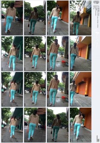 牛 仔 视频  1-120- 蓝色打底裤小少妹.mp4 街拍第一站全网原创独发!