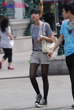 街 拍 棉 袜  655-黑九分配白棉袜,帆布板鞋-6pcs 街拍第一站全网原创独发!