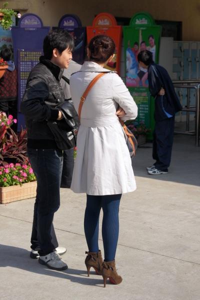 彩丝美女  【cuicui1221】蓝丝纹理,丝丝在心!【12P】 街拍第一站全网原创独发!