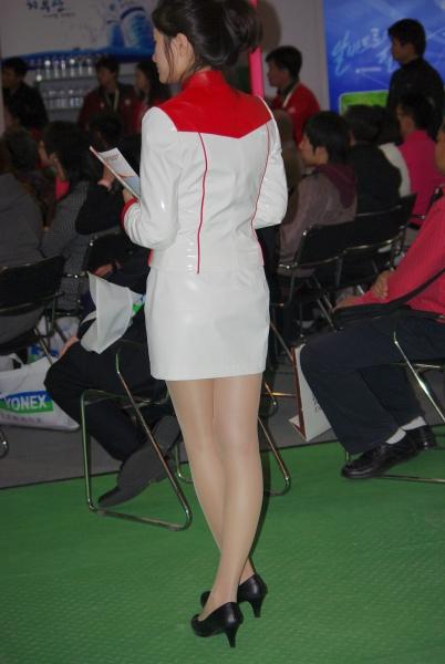 OL制服  【小白原创】展会杂耍-白衣肉丝制服妹妹-6P 街拍第一站全网原创独发!