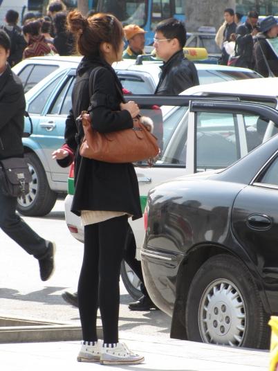 平底帆布  CC-D016    帆布鞋 厚黑袜 青春时尚(6P) 街拍第一站全网原创独发!