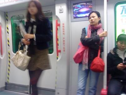 街拍棉袜  广州地铁大腿棉袜白色高跟(5P) 街拍第一站全网原创独发!