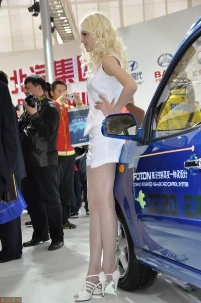 丝 袜 美 足  『末日审判』北京车展俄罗斯 肉 丝 长腿模特美足特写 10P 街拍第一站全网原创独发!