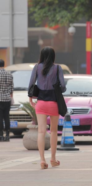 kofeezhao街拍  kofeezhao-深蓝色薄纱外套 低XIONG 粉红色套裙[15P] 街拍第一站全网原创独发!