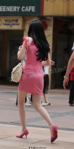 最佳身材  kofeezhao-粉红色套裙 粉红色高跟[9P] 街拍第一站全网原创独发!