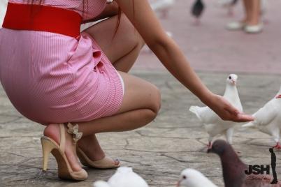 事业线型  【JSH原创】20110917美女于白鸽群中展现笑颜[10P] 街拍第一站全网原创独发!