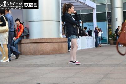 平底帆布  [铁皮哥] 复出第二贴---大爱的帆布鞋 肉 丝 +帆布鞋粉色丝【9P】 街拍第一站全网原创独发!