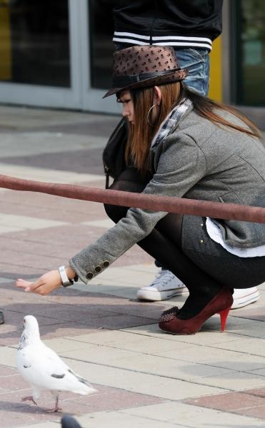冰山暖儿街拍  秋季街拍---礼帽小西装短裙黑丝高跟妹妹(14P) 街拍第一站全网原创独发!
