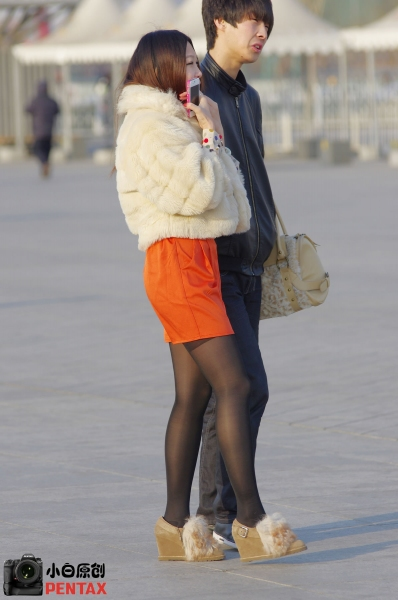 早期街拍作品  【小白原创】北京开春了, 黑 丝 是阻挡不了的(上)-11p 街拍第一站全网原创独发!