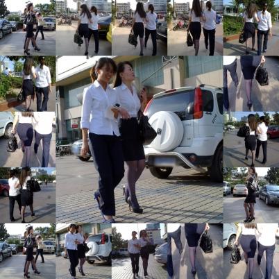 OL制服  艾德街拍--紫丝篇之诱人的OL白衬衫黑裙高跟女--{14P} 街拍第一站全网原创独发!