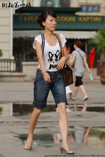 牛仔裤美女  2075-5p 街拍第一站全网原创独发!