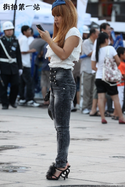 牛仔裤 美 女  2396-6p 街拍第一站全网原创独发!