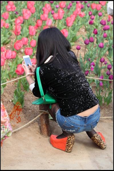 内痕,黑丝,袜根,热裤,豹纹坡高跟,所有时尚元素集一体!【12P】