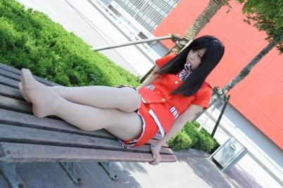 空 姐 风 采  [龙翔九天2012新作] 躺椅上的肉色 丝 袜 红色空姐美腿美脚! (15P) 街拍第一站全网原创独发!