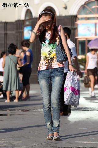 牛仔裤 美 女  2843-7P 街拍第一站全网原创独发!