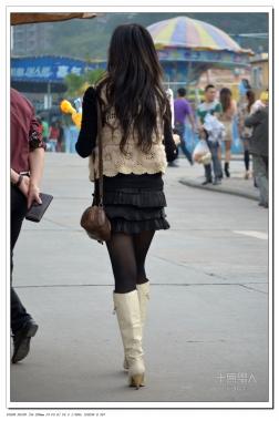 女大学生街拍  2012-542 超短 黑 丝 ! 【11P】 街拍第一站全网原创独发!
