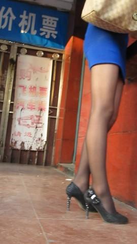 丝 袜 视频  蓝色超裙2 街拍第一站全网原创独发!