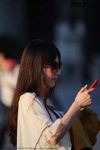 五雷开花炮街拍  红黑边框太阳镜-7P 街拍第一站全网原创独发!