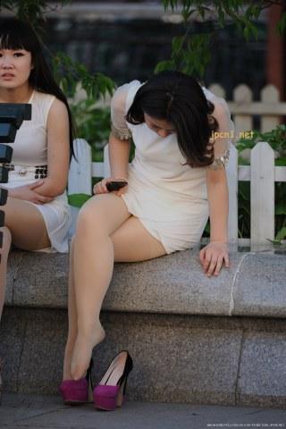 长椅双 肉 丝 -9张 - VIP街拍图片发布- 街拍第一站