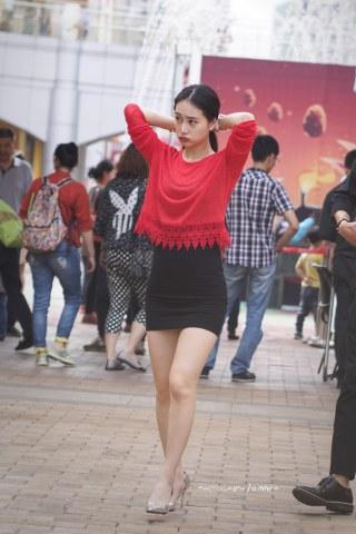 summer_y街拍  时尚美女 7P 街拍第一站全网原创独发!