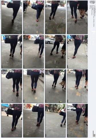 牛仔视频  1-122-街拍黑色打底裤小妹.mp4 街拍第一站全网原创独发!