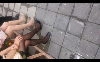 dangling002视频  黑丝美腿挑动诱惑高跟,一共两段,值得一看!【dangling精品街拍街拍视频】 街拍第一站全网原创独发!