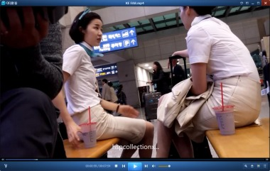 HSP丝袜视频  【HSP's video】制服街拍丝袜美女休息凉高微挑[07:54] 街拍第一站全网原创独发!