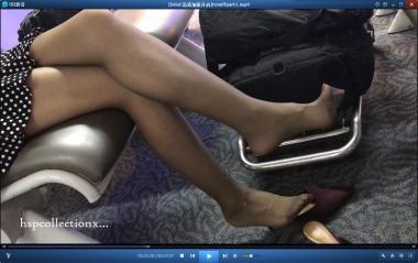 HSP丝袜视频  【HSP's video1080P】候机室近距离拍摄女友街拍丝袜挑鞋[07:27] 街拍第一站全网原创独发!