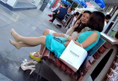 [权限要求:两年期VIP及以上]  【jim2】蓝色连衣裙  肉 丝  美 女 (20p) 街拍第一站全网原创独发!