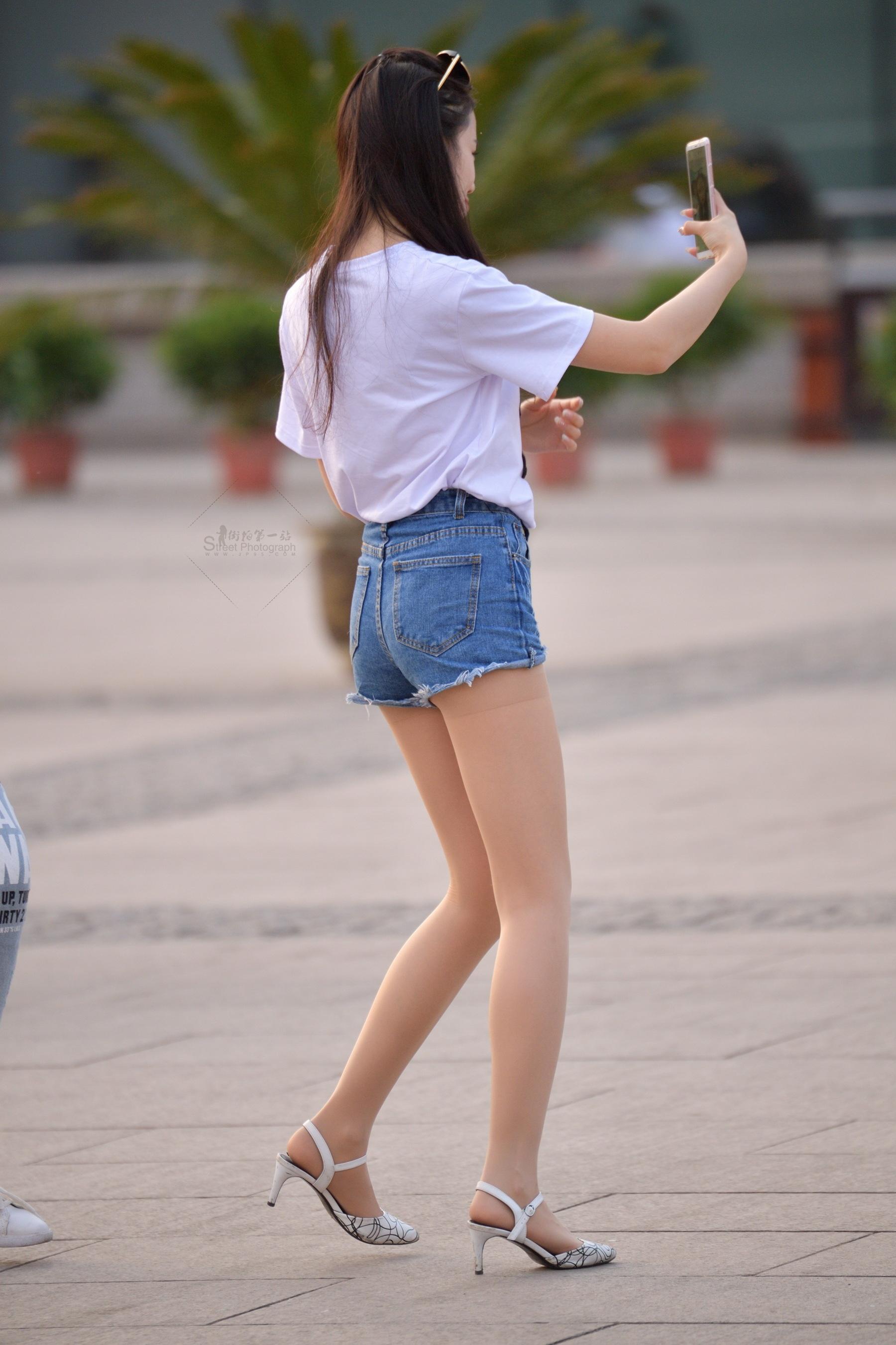 长腿短裤 肉丝袜