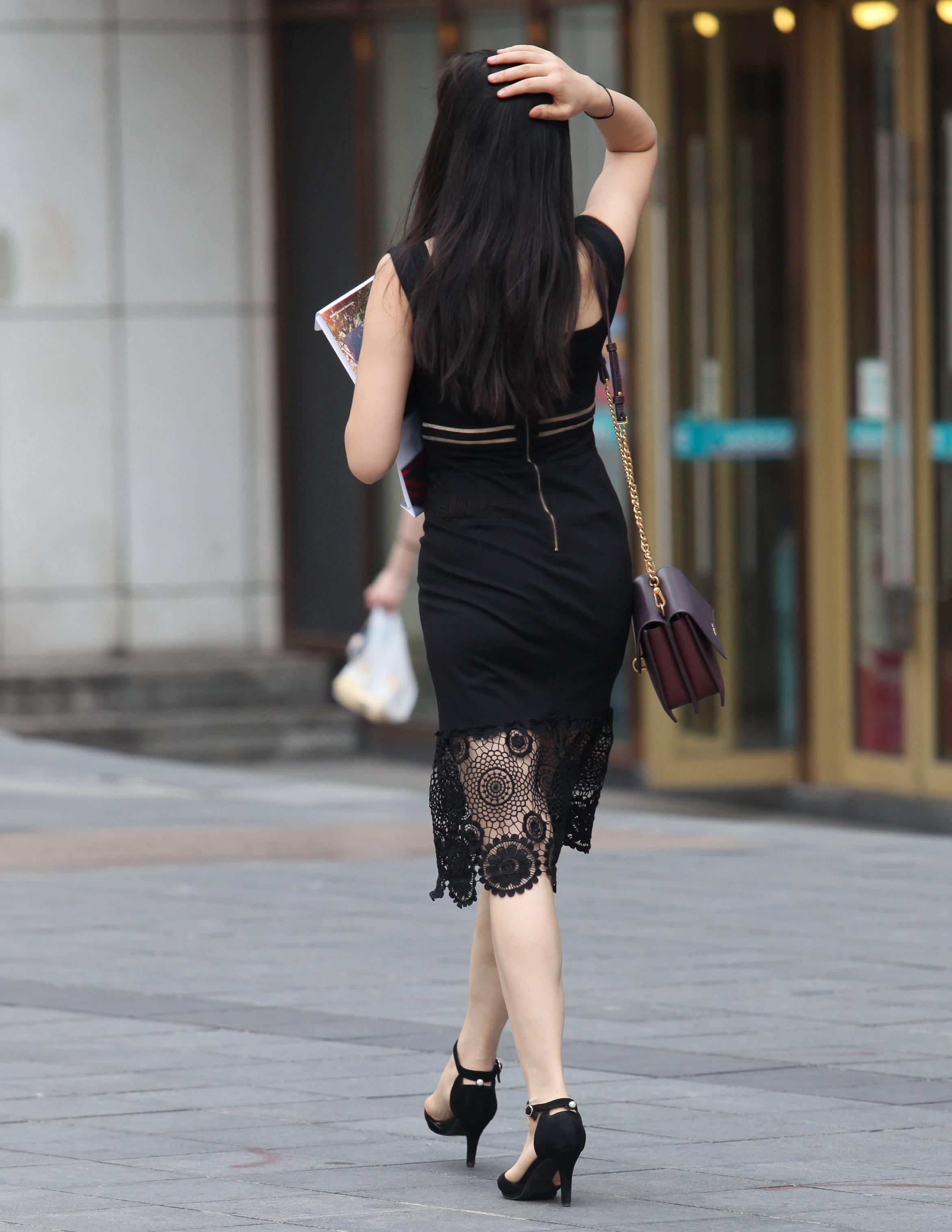 【珏一笑而过】黑裙 高跟Shao Fu