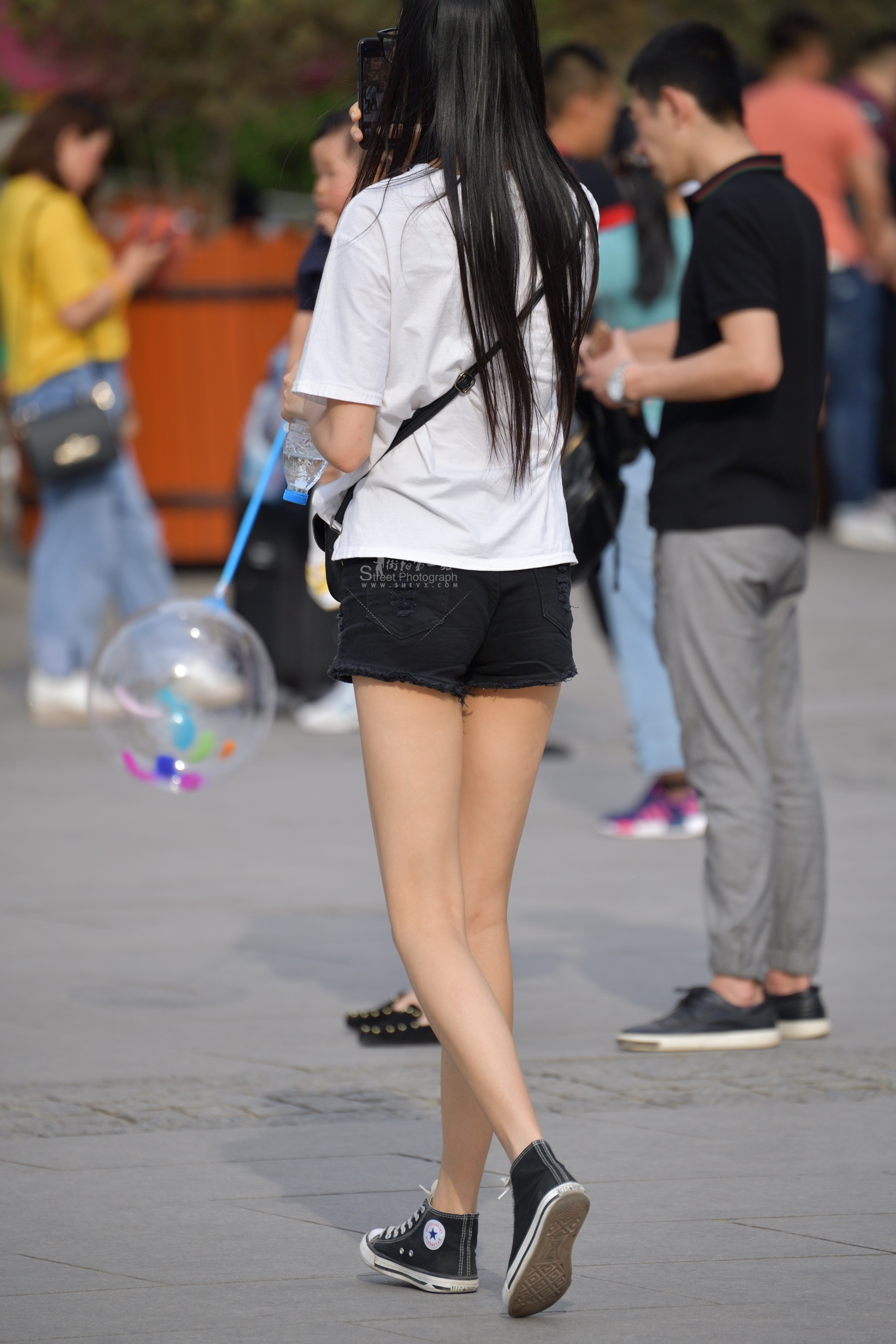 长腿黑 短裤