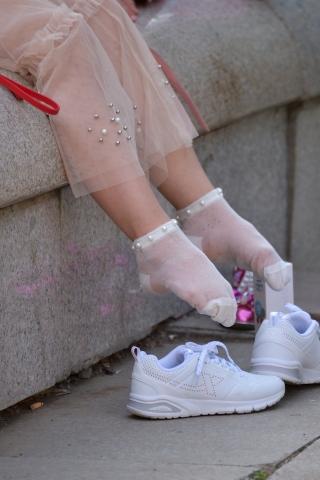 VIP街拍图片发布  纱裙短白丝-11张 街拍第一站全网原创独发!