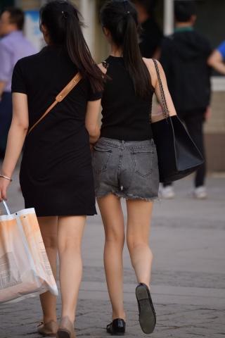 VIP街拍图片发布  黑裙马尾-7张 街拍第一站全网原创独发!