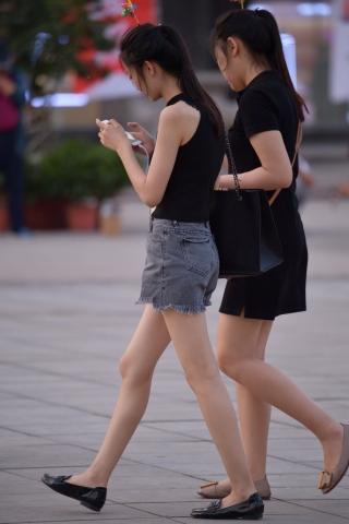 VIP街拍图片发布  黑裙马尾-16张 街拍第一站全网原创独发!