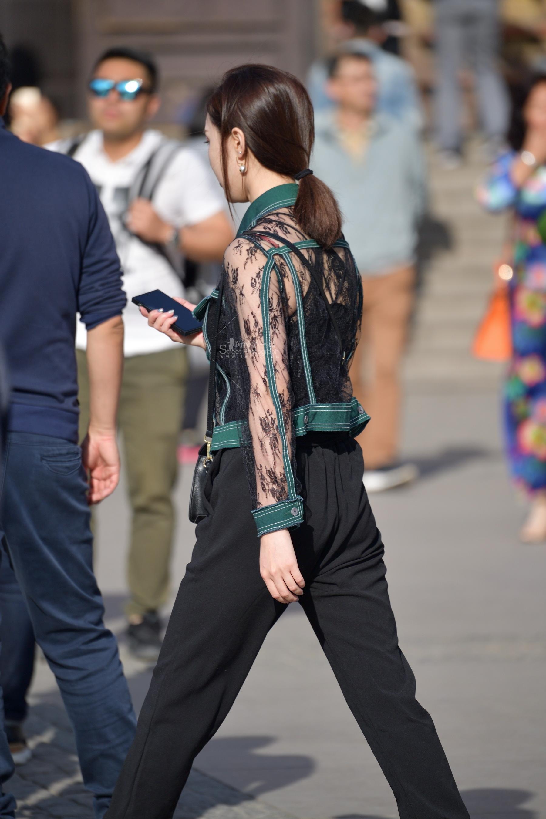 黑裤 蕾丝装