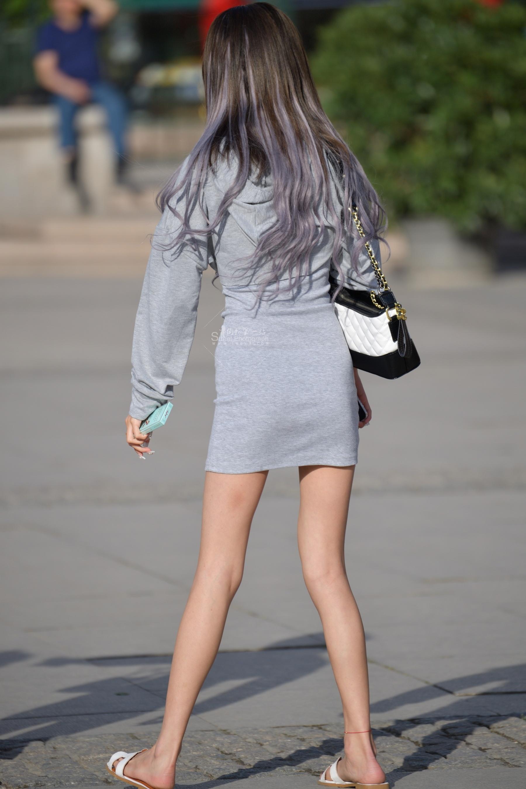 长发灰裙=22张