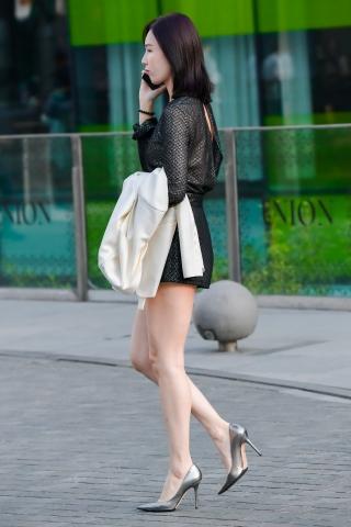白玉藕系列-气质高跟高挑街拍美女的打扮实在好看