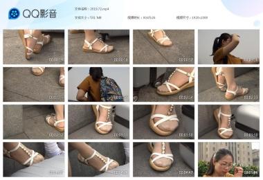 天堂的金币视频  来旅游的眼镜肉街拍丝袜凉鞋女 街拍第一站全网原创独发!