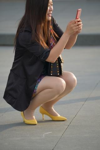 黃 高跟肉絲襪