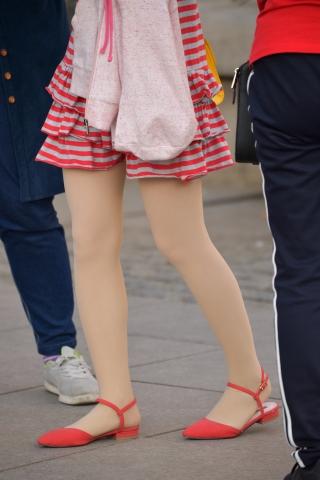 條紋連衣裙