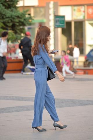 蓝衣 高跟等-街拍丝袜第一站