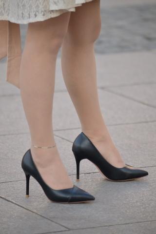 黑 高跟肉丝袜-街拍丝袜第一站